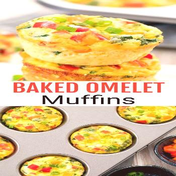 Baked Breakfast Omelet Muffins. These egg muffins are loaded with omelet ingredients. They are easy