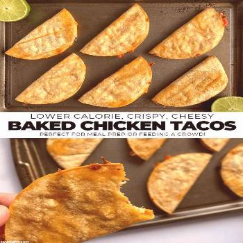 Baked Chicken Tacos - A Super Simple Healthy Meal Prep Recipe