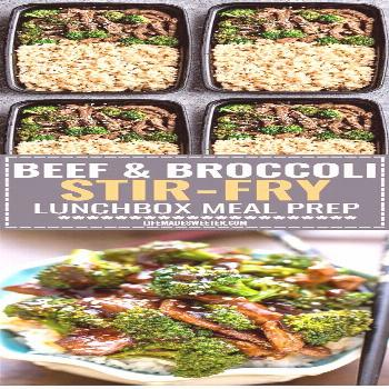 Beef and Broccoli  I halved the Meal Prep Recipes as shown on this pin, and it made for a perfect c