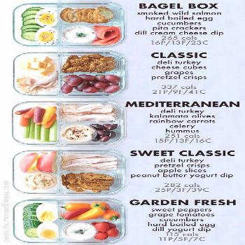 Bento Box Snack Prep Ideas - delicious ideas for meal prepping your snacks! Includes nutrition info