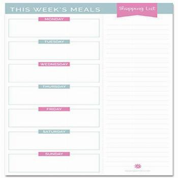 bloom daily planners Weekly Meal Planning Pad - Magnetic