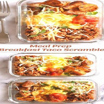 Breakfast lovers, jazz up your mornings with this Meal Prep Breakfast Taco Scramble, made with pota