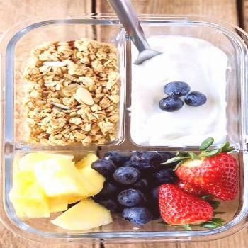 Breakfast Meal Prep Fruit and Yogurt Bistro Box. Meal Prep Ideas for Breakfast: 13 Quick & Healthy