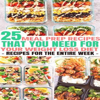 Delicious meal prep recipes for the week that are great for weight loss.