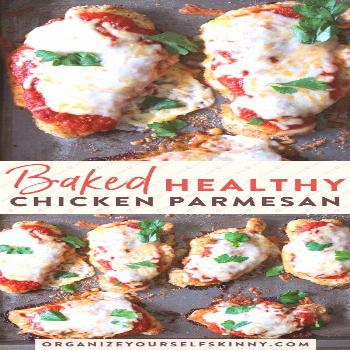Easy, Quick & Healthy Baked Chicken Parmesan Recipe | Easy Meal Prep Recipes for Busy People - Are