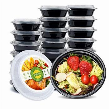 Glotoch 10 Pack, 16 OZ Single Compartment Plastic Food