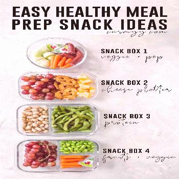Looking for some Easy Healthy Meal Prep Snack Ideas? Here are 4 meal prep snack recipes for work, s