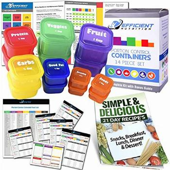 Portion Control Containers DELUXE Kit (14-Piece) with