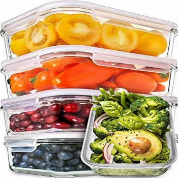 Prep Naturals Glass Meal Prep Containers - Food Prep