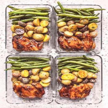Take your meat and potatoes meal prep into the 21st century with this simple, yet elegant Glazed Ch