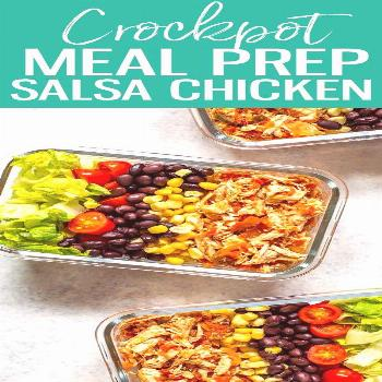 This Crockpot Salsa Chicken comes together with just TWO ingredients and is perfect for weekly meal