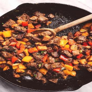 Whole30 Steak Bites with Sweet Potatoes and Peppers   THE FRESH RECIPES