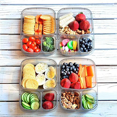 Youngever 7 Sets Bento Lunch Box, Meal Prep Containers,